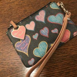 Dooley & Bourke Multicolored Heart Wristlet